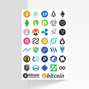 Temporary Cryptocurrency Logo Tattoos - Color